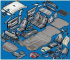 Image representant les sous-catégories de HABITACLE